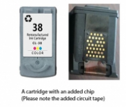 Canon CL-38 Colour (EXTRA CHIP) Reman for